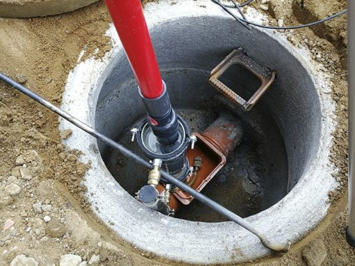 Rohrleitungsprüfung als Hausanschlussprüfung mit einem Dichtheitsprüfgerät