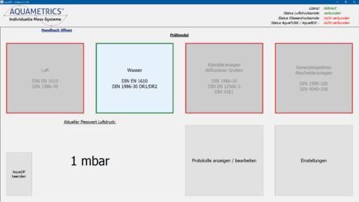 Dichtheitsprüfsoftware Prüfsoftware Kanaltechnik